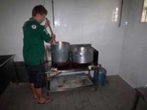 faire la cuisine à grande échelle